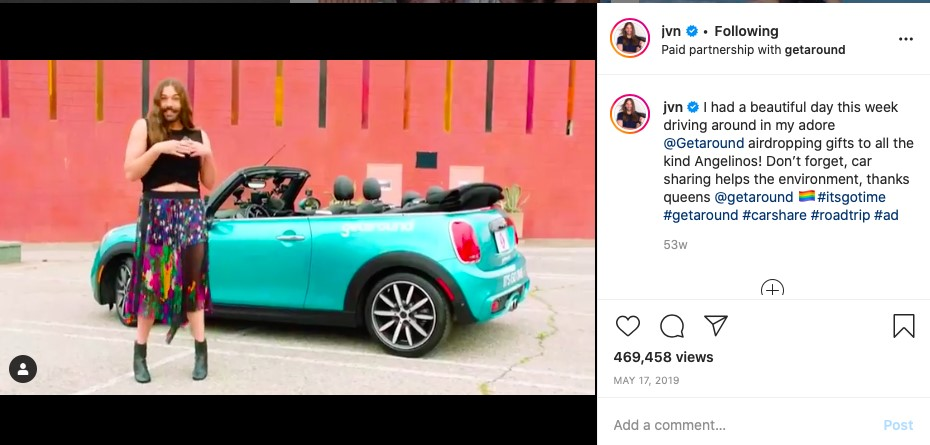Car Sharing App Partnered with Influencers For App Promotion