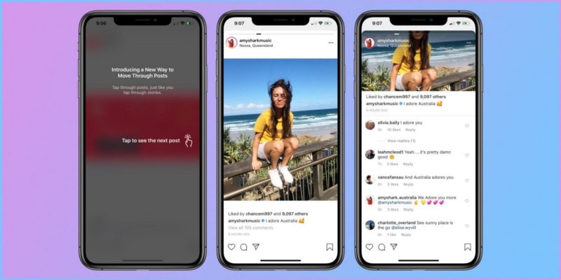 Infinite Scrolling Feature in the Instagram App